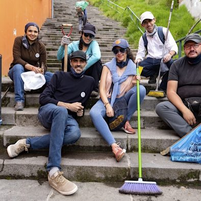Be Social Team Quito Bike Tours Stairs El Panecillo