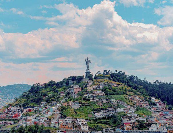 View of El Panecillo Hill - Sugar Loaf Quito, Ecuador