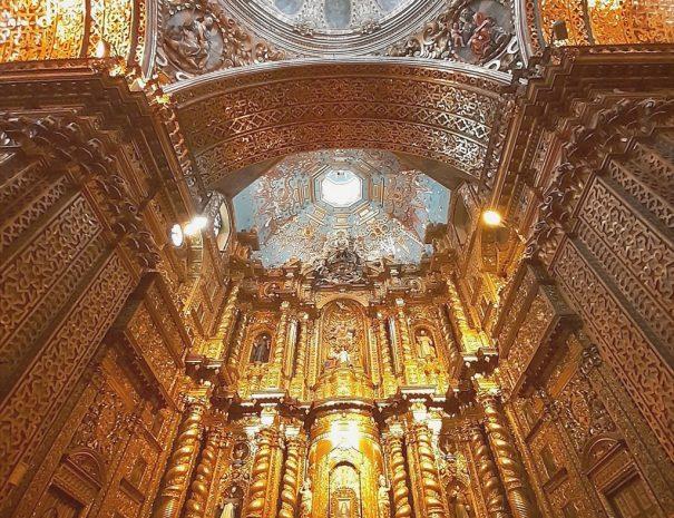 Church Ornament Inside La Compania Church