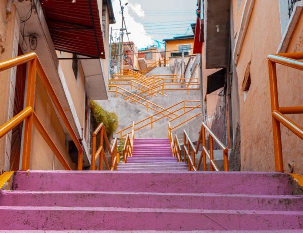 Stairs El Panecillo Quito